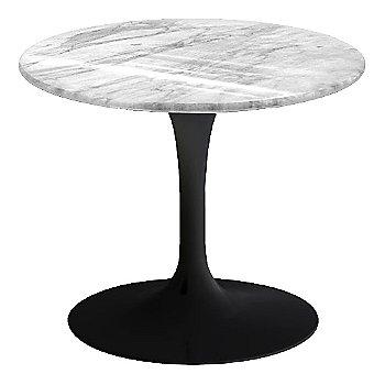 Carrara White-Grey Polished Coated Marble, Black base finish, 20-Inch Low