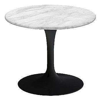 Carrara White-Grey Satin Coated Marble, Black base finish, 20-Inch Low