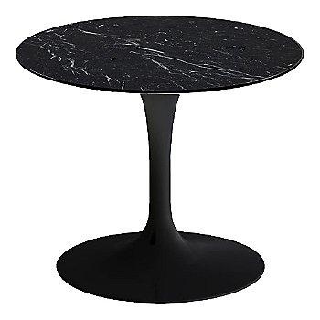 Nero Marquina Black Shiny Coated Marble, Black base finish, 20-Inch Low