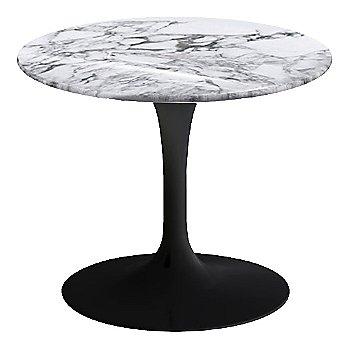 Arabescato White-Grey Shiny Coated Marble, Black base finish, 20-Inch Low