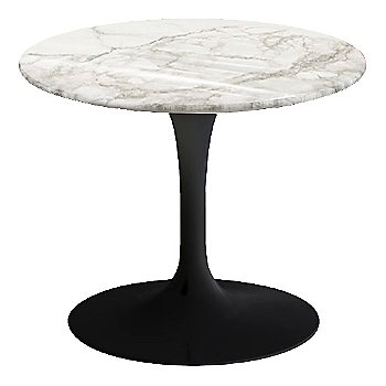 Calacatta White-Grey-Beige Shiny Coated Marble, Black base finish, 20-Inch Low