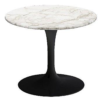 Calacatta White-Grey-Beige Satin Coated Marble, Black base finish, 20-Inch Low