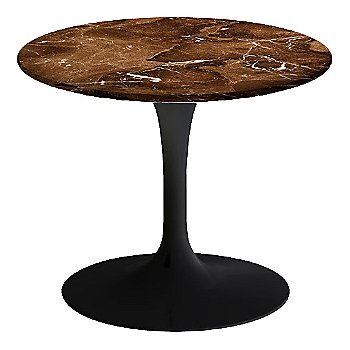 Espresso Brown Satin Coated Marble, Black base finish, 20-Inch Low