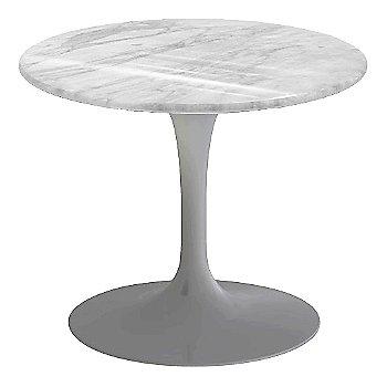 Carrara White-Grey Natural Marble, Platinum base finish, 20-Inch Low