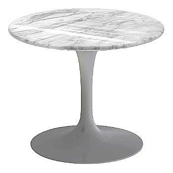Carrara White-Grey Polished Coated Marble, Platinum base finish, 20-Inch Low