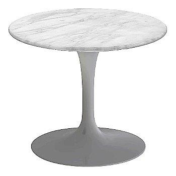 Carrara White-Grey Satin Coated Marble, Platinum base finish, 20-Inch Low