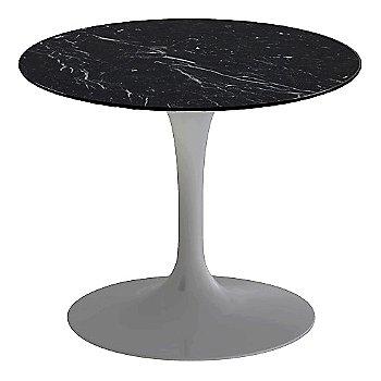 Nero Marquina Black Shiny Coated Marble, Platinum base finish, 20-Inch Low