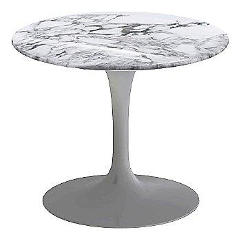 Arabescato White-Grey Shiny Coated Marble, Platinum base finish, 20-Inch Low