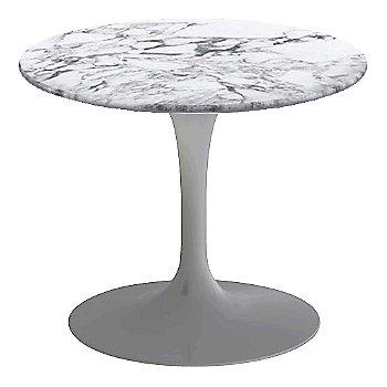 Arabescato White-Grey Satin Coated Marble, Platinum base finish, 20-Inch Low
