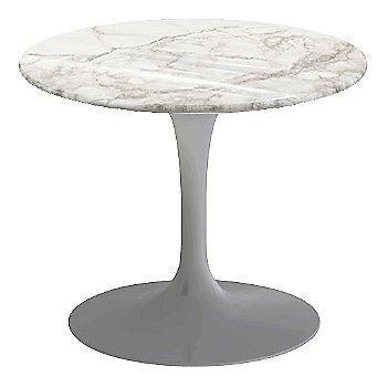 Calacatta White-Grey-Beige Shiny Coated Marble, Platinum base finish, 20-Inch Low