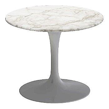 Calacatta White-Grey-Beige Satin Coated Marble, Platinum base finish, 20-Inch Low