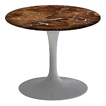 Espresso Brown Satin Coated Marble, Platinum base finish, 20-Inch Low