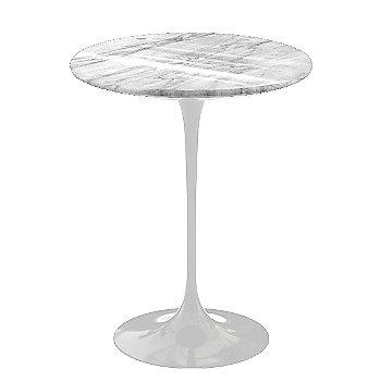 Shown in Carrara White-Grey Polished Coated Marble, White base finish, 16-Inch