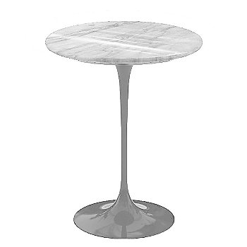 Carrara White-Grey Natural Marble, Platinum base finish, 16-Inch