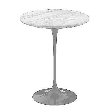 Carrara White-Grey Satin Coated Marble, Platinum base finish, 16-Inch