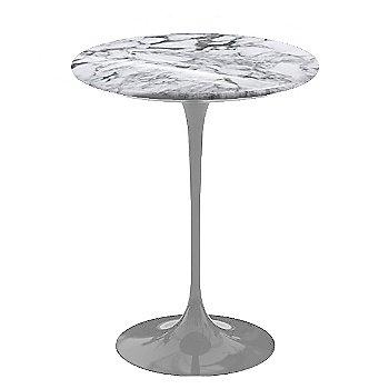 Arabescato White-Grey Shiny Coated Marble, Platinum base finish, 16-Inch
