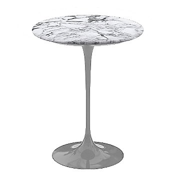 Arabescato White-Grey Satin Coated Marble, Platinum base finish, 16-Inch