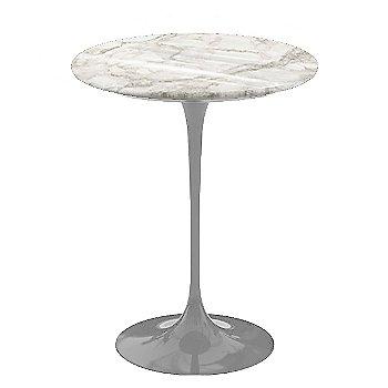 Calacatta White-Grey-Beige Shiny Coated Marble, Platinum base finish, 16-Inch