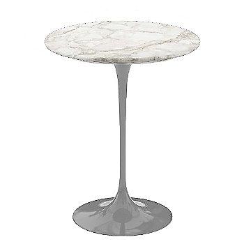 Calacatta White-Grey-Beige Satin Coated Marble, Platinum base finish, 16-Inch