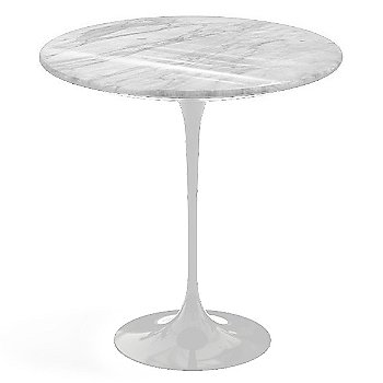 Carrara White-Grey Natural Marble, White base finish, 20-Inch