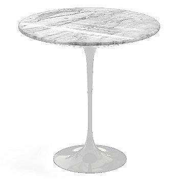 Carrara White-Grey Polished Coated Marble, White base finish, 20-Inch