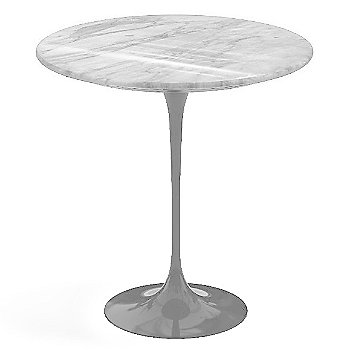 Carrara White-Grey Natural Marble, Platinum base finish, 20-Inch