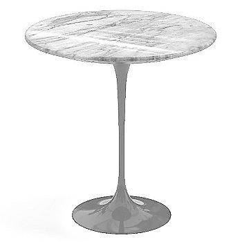 Carrara White-Grey Polished Coated Marble, Platinum base finish, 20-Inch