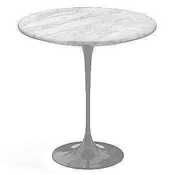 Carrara White-Grey Satin Coated Marble, Platinum base finish, 20-Inch