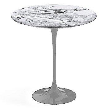 Arabescato White-Grey Shiny Coated Marble, Platinum base finish, 20-Inch