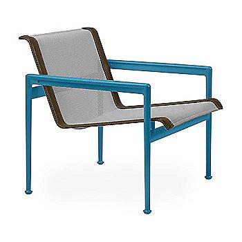 Aluminum Fabric / Blue Frame / Bronze Trim