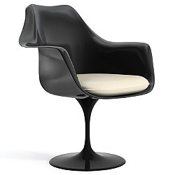 Tulip Armchair with Seat Cushion