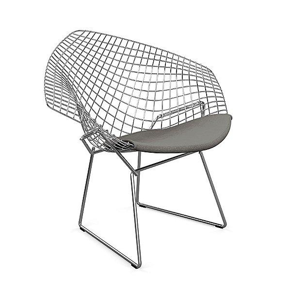 Diamond Lounge Chair with Seat Cushion