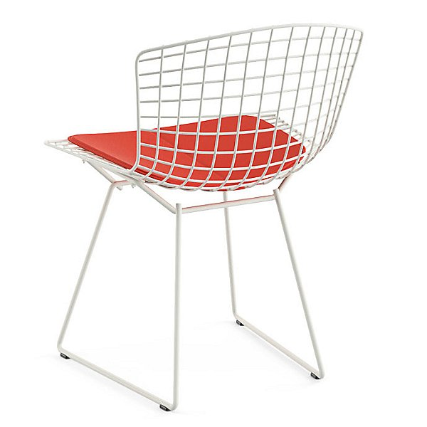 Bertoia Side Chair with Seat Cushion, Outdoor