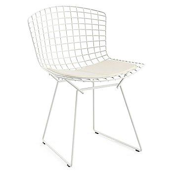 Shown in Vinyl White Seat Cushion with White Powder Coat base