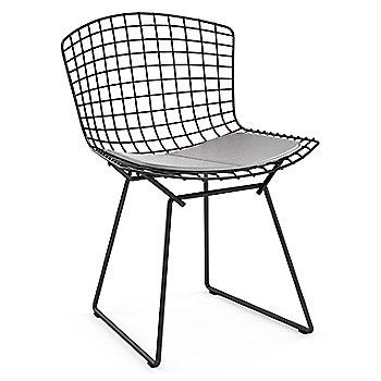 Shown in Vinyl Fog Seat Cushion with Black Powder Coat base