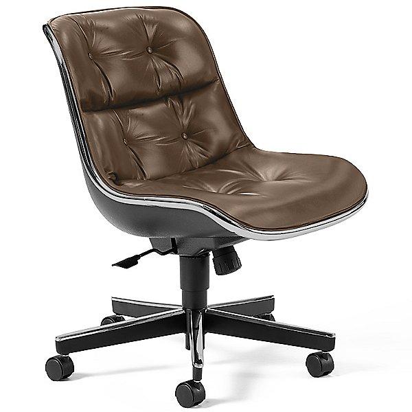 Charles Pollock Executive Armchair with Aluminum Frame