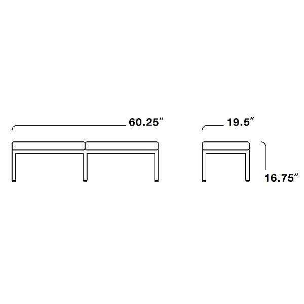 Florence Knoll Three-Seater Bench
