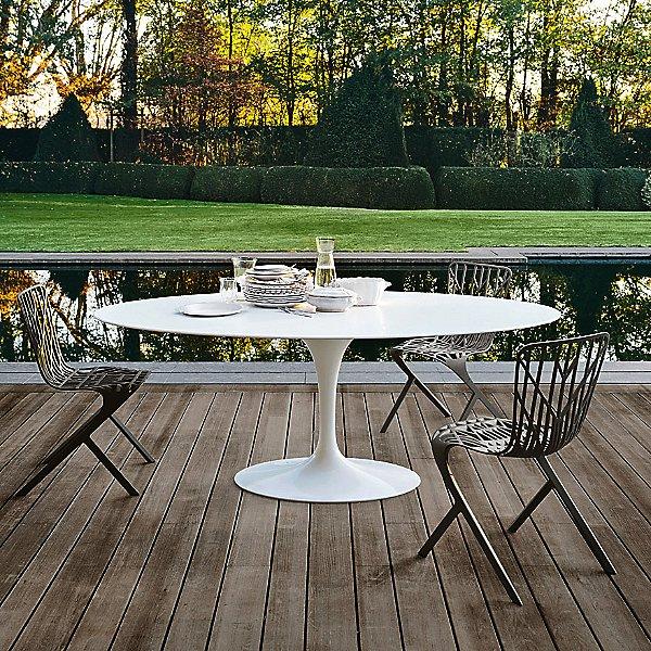 Saarinen 78-Inch Oval Dining Table, Outdoor