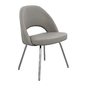 Shown in Volo Leather: Volo Black Fabric Color, Polished Chrome Finish