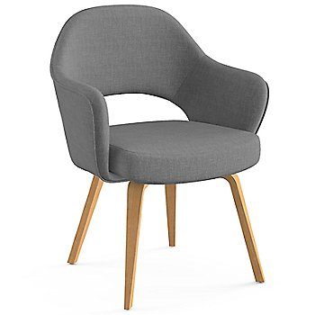 Shown in Classic Boucle: Smoke Fabric Color, Light Oak Leg Finish