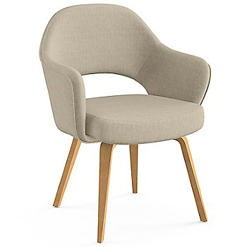 Shown in Classic Boucle: Neutral Fabric Color, Light Oak Leg Finish