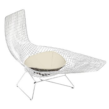 Shown in Chrome Finish with Seat Cushion frame finish