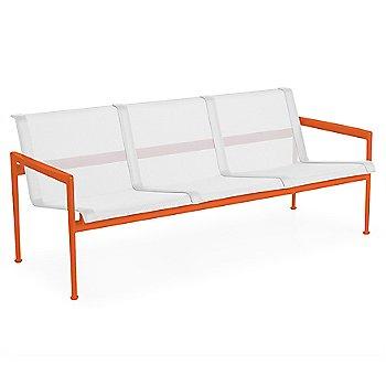 White fabric / Orange frame / White trim