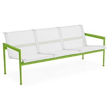 White fabric / Lime Green frame / White trim