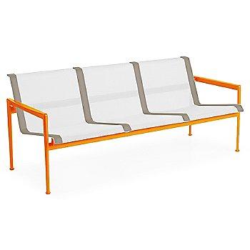 White Fabric / Orange Frame / Sand Trim