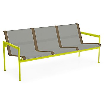Aluminum Fabric / Lime Green Frame / Bronze Trim