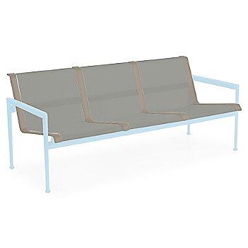 Aluminum Fabric / Sky Blue Frame / Sand Trim