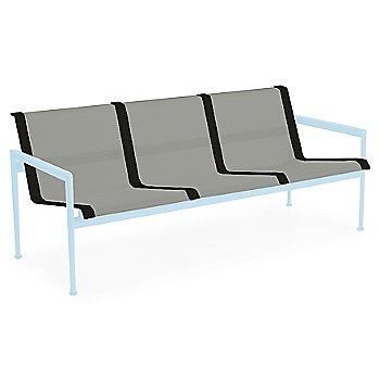 Aluminum Fabric / Sky Blue Frame / Onyx Trim