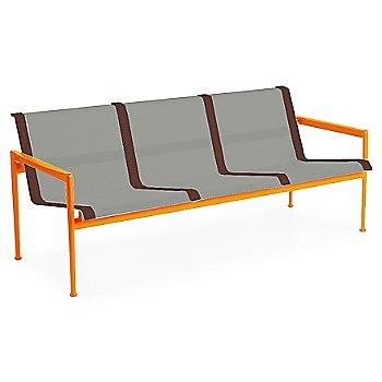 Aluminum Fabric / Orange Frame / Brown Trim