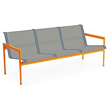 Aluminum Fabric / Orange Frame / Grey Trim